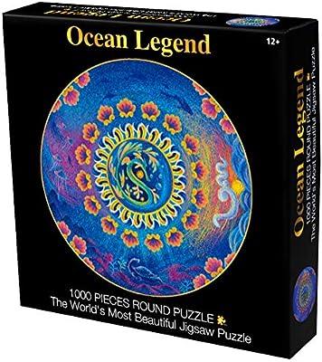 Amazon.com: Bgraamiens Puzzle-Ocean Legend-1000 Pieces Round ...
