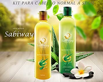 Amazon.com : Shampoo Sabiway Kit For Normal To Dry Hair - Cabello Normal : Beauty