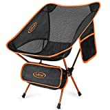 G4Free Lightweight Portable Chair Outdoor Folding Backpacking Camping Chairs for Sports Picnic Beach Hiking Fishing (Orange)