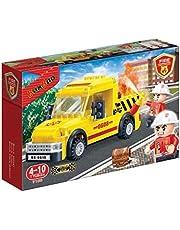 بانباو لعبة تركيب سيارة الاطفاء للاطفال ، 105 قطعة ، 7108