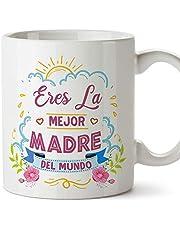 """MUGFFINS Tazas para Mamá –""""Eres la mejor madre"""" (Modelo 1) – Regalos para el día de la Madre/Desayunos originales"""