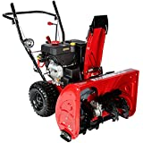 AMICO 28-inch Deluxe 265cc Two-Stage E-Start Gas Snow Blower Thrower