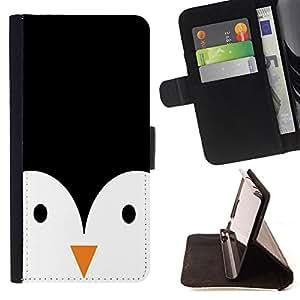 Dragon Case- Caja de la carpeta del caso en folio de cuero del tir¨®n de la cubierta protectora Shell FOR Samsung Galaxy G360 G3608 G3606- Penguin Cute animal
