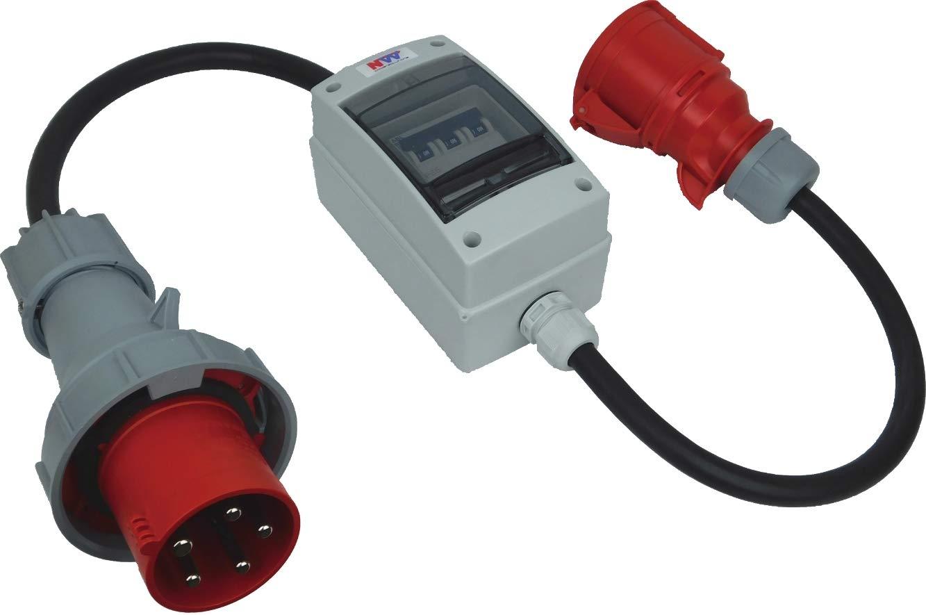 Stromverteiler CEE-Steckdose Adapter Baustromverteiler Starkstrom Industrie 16A