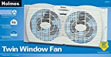 Holmes Dual Blade oBSWHU Twin Window Fan, White, 4 Units