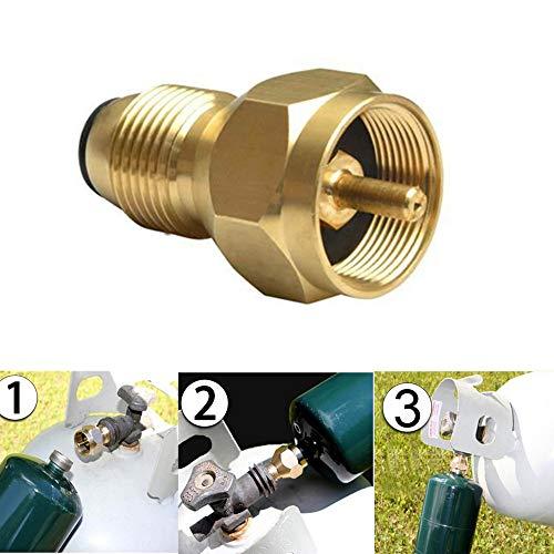 - Euone Connector, Propane Refill Adapter Lp Gas 1 Lb Cylinder Tank Coupler Heater 100% Brass