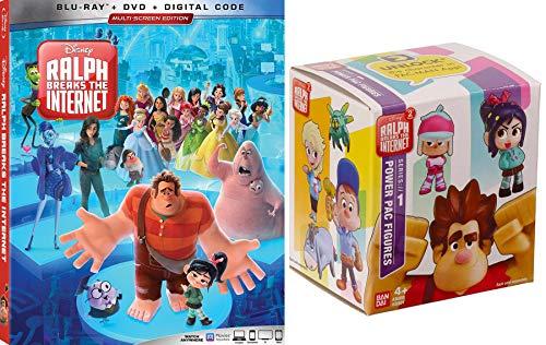 Power Pac Disney Animated Ralph Breaks the Internet Blu Ray + DVD & Wreck-It Ralph 2 Mini Figure Box (Lego Wreck It Ralph)