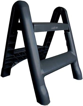 LQtd Taburetes Escalera del pie del Taburete del Paso Escalera de Dos Pasos portátil Escalera plástica Gruesa Escalera del hogar: Amazon.es: Hogar