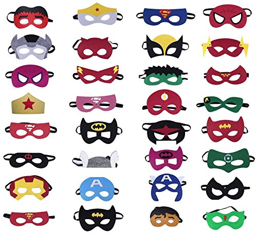 TEEHOME Superhero Masks Party Favors For Kid (32