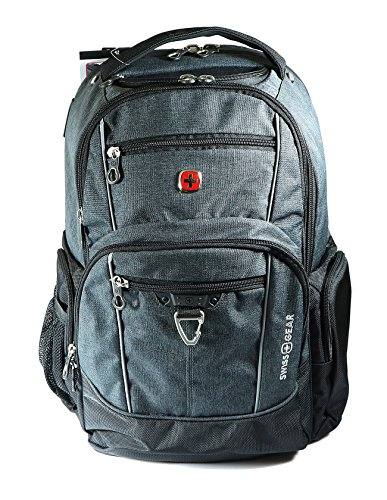Swiss Gear - Water Resistant Laptop and Tablet Backpack (Fits Most 17.3'' Laptops) (Grey) by Swiss Gear