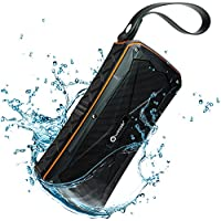 Woozik Active Waterproof Bluetooth Speaker - Dual 8W Drivers, More Bass, IPX7 Rating, Microphone, Power Bank, Micro SD Card Slot, Perfect or Home Travel Beach Shower Hiking