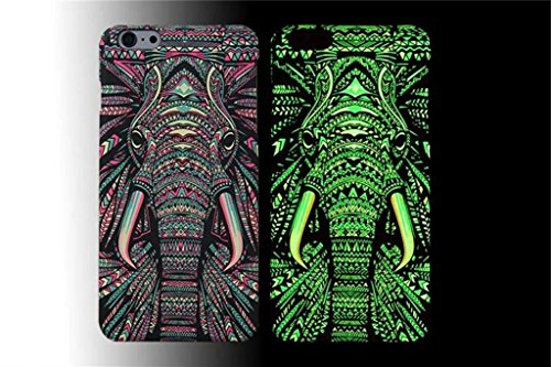 ne 6 Plus/5.5 inches) Bon Venu Animal totem Tribal pattern printing Matte Plain forest Series Glowing Luminous Glow in the Dark Noctilucence Night-luminous products New Arrival Creative Luxury Cartoon Life Of a King Animal Elephant Tiger Lion Cat Wolf Hard Case for iPhone 6 Plus/5.5