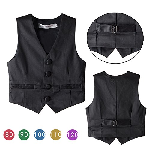 Stylesilove Infant Toddler Baby Kids Boy Classic Gentlemen Tuxedo Vest (120/-5 Years)