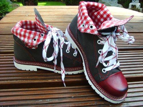 Spieth & Wensky Trachten Stiefel / Sneaker Damen Jacky Fb. braun / rot Gr. 37