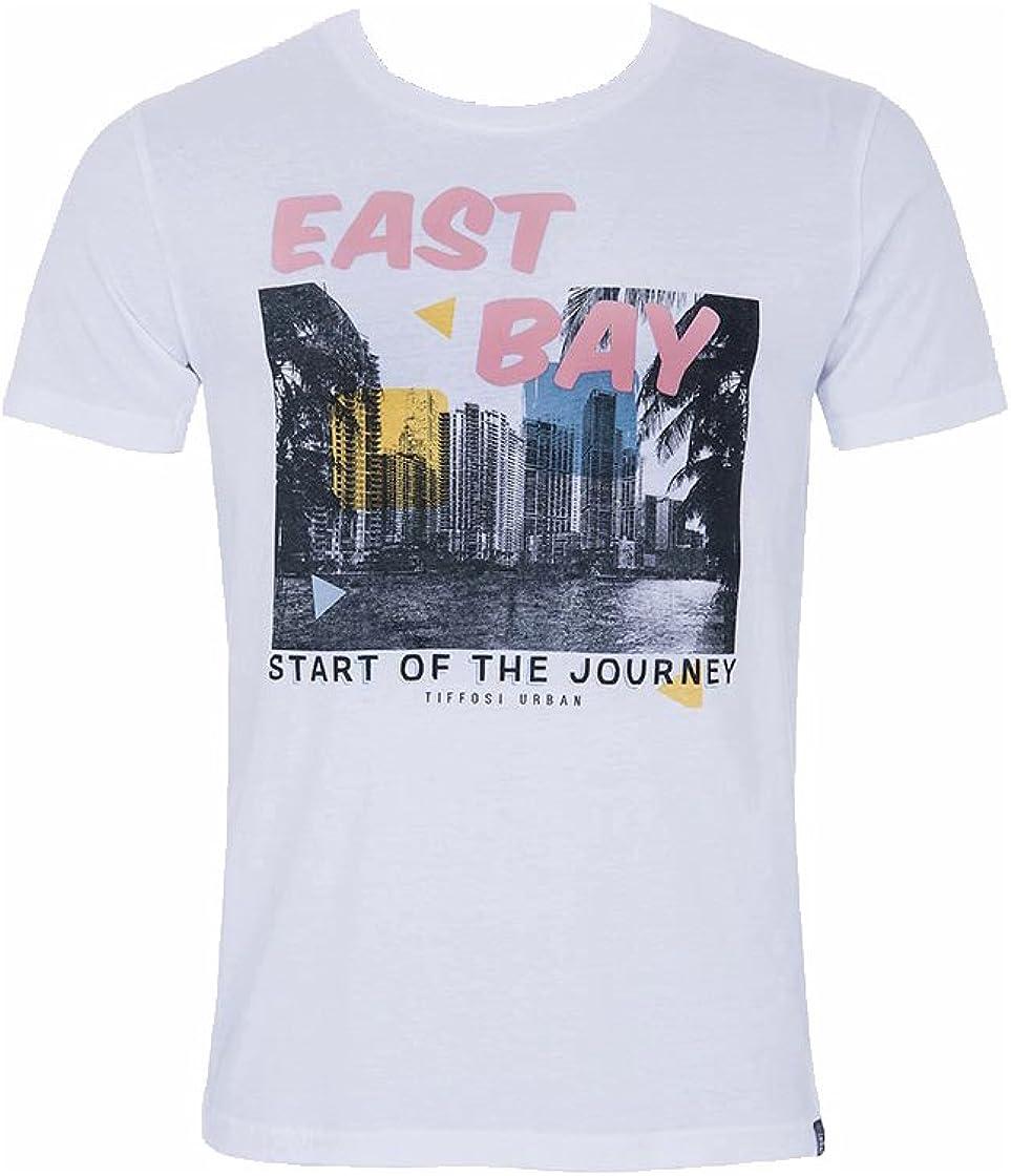 Tiffosi Camiseta Hombre Toulon Blanco Estampación L Blanco: Amazon.es: Ropa y accesorios