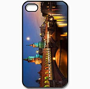 Protective Case Back Cover For iPhone 4 4S Case Berlin Deutschland Germany Berlin Germany Oberbaumbr Black