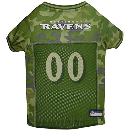 NFL Baltimore Ravens Camouflage Dog Jersey, X-Large. - CAMO PET Jersey Available in 5 Sizes & 32 NFL Teams. Hunting Dog Shirt