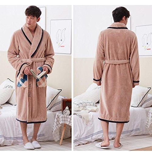 Pure Inverno Pigiama Ispessimento Cotton B Robe Casa Zlr Uomo Abbigliamento Sleep Stagione Gioventù Autunno Da Accappatoi xwqAXB6n