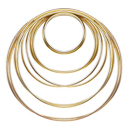 eBoot 10 Pieces Metal Rings Metal Hoops for Dream Catcher, 5 Sizes - Frame Pieces Metal
