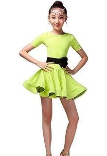 b523d5d10c783 Happy Cherry Kid Girls Spandex Latin Rumba Samba Dance Dress Ballroom  Dancewear
