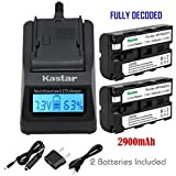 Kastar 2x Battery + Fast Charger for Sony NP-F570 NP-F550 NP-F530 NP-F330 & CCD-RV100 CCD-SC5 CCD-SC9 CCD-TR1 CCD-TR215 CCD-TR940 Camcorder, CN-126 CN-160 CN-216 CN-304 YN 300 VL600 LED Video Light