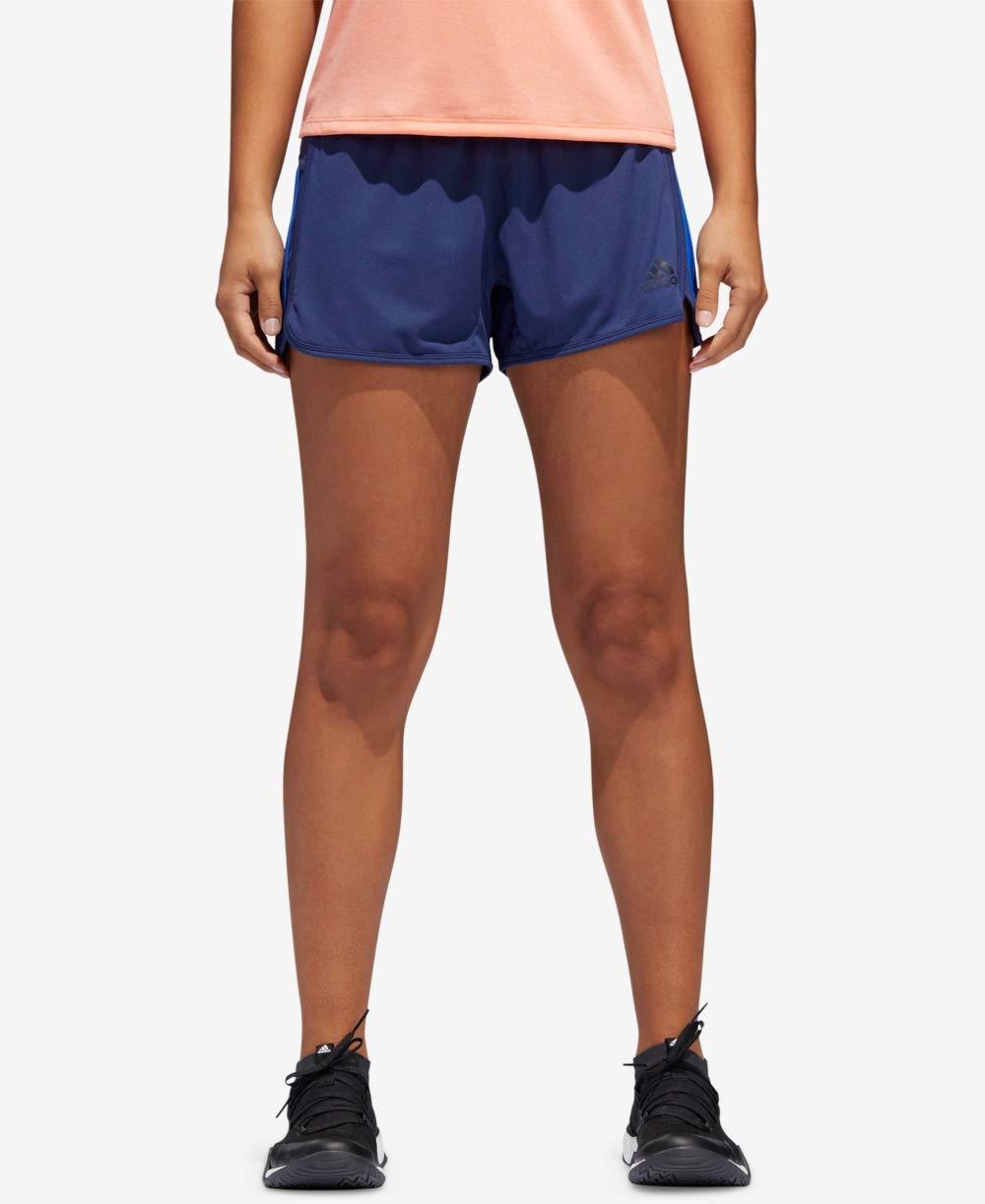 adidas Women's D2m Knit Shorts Noble Indigo Large 3 3