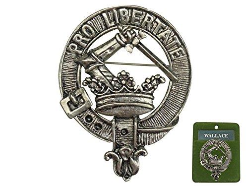 "Scottish Crest Pin Badge (2.25"", WALLACE)"