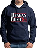 reagan bush 84 sweater - New York Fashion Police Ronald Reagan George Bush 84 Republican President Campaign Hoodie Sweatshirt Navy L