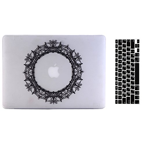 MacBook 12'' Case and Keyboard Cover, AICOO 2-in-1 Beautiful Hard Case Cover Shell For Macbook Retina Display 12 inch(The Newest...