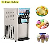 Ice Cream Machine, Vinmax Commercial Small Desktop Soft Ice Cream Making Machine, Commercial small desktop soft ice cream making machine, 220V / 60Hz Low Power Ice Cream Machine(Without Refrigerant)