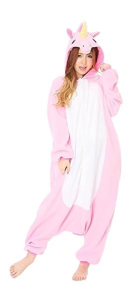Samgu Animal Cosplay Unisex Adulte Kigurumi Pijamas Pajama Costume Sleepwear Unicornio Rosa