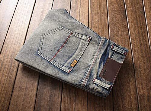 Strappati Colour 2018 Patch Slim Look Uomo Jeans Fit Vecchio Skinny Aderenti Affusati Casual Used Con Effetto Vintage Targogo R wUXIq4Hg4