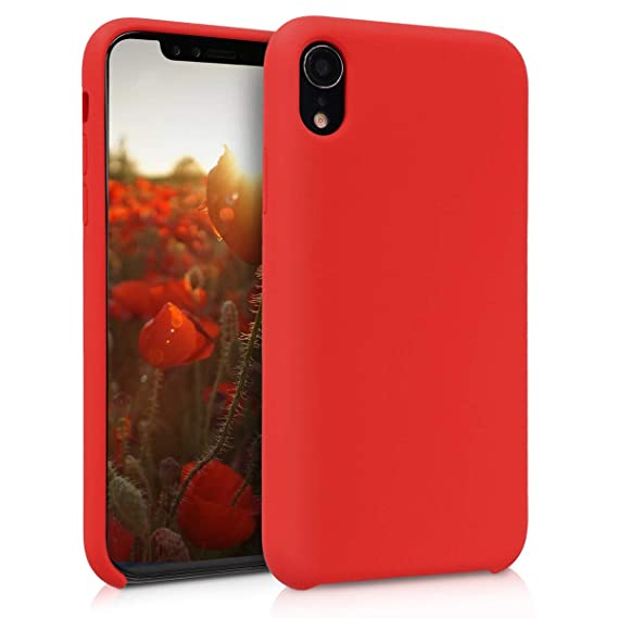 quality design e9d5c 0fc49 kwmobile TPU Silicone Case Compatible with Apple iPhone XR - Soft Flexible  Rubber Protective Cover - Red