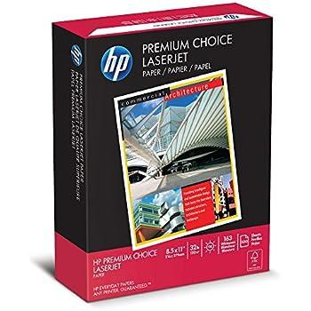HP 113100 Premium Choice LaserJet Paper, 98 Brightness, 32lb, 8-1/2x11, White, 500 Shts per Ream