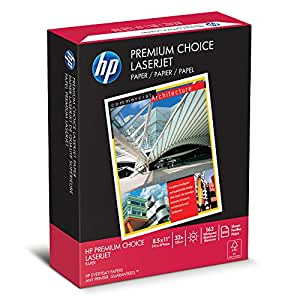HP Paper, Premium Choice Laserjet Paper Poly Wrap, 32lb, 8.5 x 11, Letter,  500 Sheets / 1 Ream Made In The USA