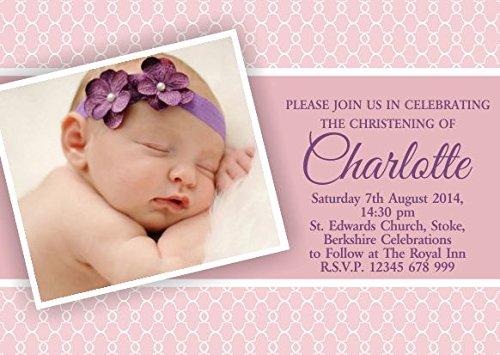 1 opinioni per 10x inviti per bambini, battesimo festa di battesimo