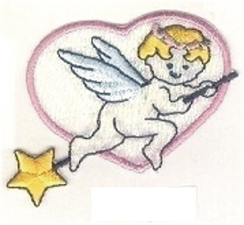 Flying Baby Cupid Angel Heart Embroidery (Flying Angel Pin)