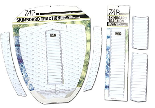 Zap Skimboard Deluxe Traction Pad Set/Skim Board Grip Combo/Tail Pad & Arch Bar -