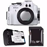 Nikon WP-N3 Waterproof Housing for Nikon 1 J4 or S2 Camera and NIKKOR 11-27.5mm or 10-30mm Lens + EN-EL22 Battery + 64GB SDXC Card Saver Review