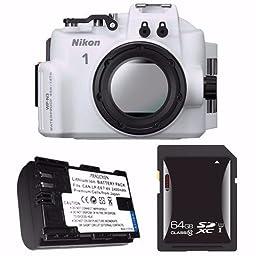 Nikon WP-N3 Waterproof Housing for Nikon 1 J4 or S2 Camera and NIKKOR 11-27.5mm or 10-30mm Lens + EN-EL22 Battery + 64GB SDXC Card Saver Bundle 3