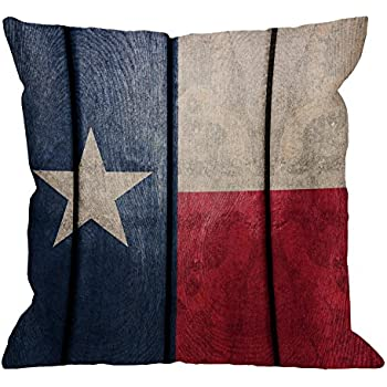 HGOD DESIGNS Texas Flagn Pillow Covers,Decorative Throw Pillow Vintage Wood Texas Flag Pillow cases Cotton Linen Outdoor Indoor Square Cushion Covers For Home Sofa couch 18x18 inch