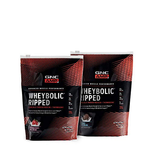 GNC AMP WheybolicTM Ripped Strawberry & Cookie Bundle (Gnc Whey Protein Vs On Whey Protein)