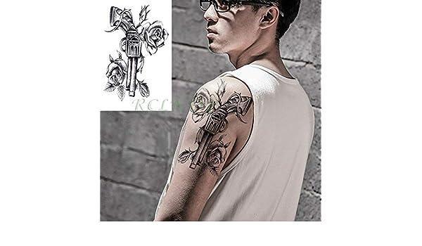 3 Piezas Etiqueta engomada del Tatuaje a Prueba de Agua Sailor ...