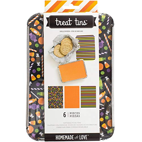 Homemade with Love Food Craft Treat Tins Halloween Large (12 Pack) ()