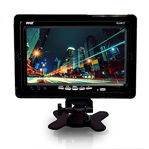 PYLE PLHR77 7'' Wide Screen TFT LCD Video Monitor w/Headrest Shroud and Universal