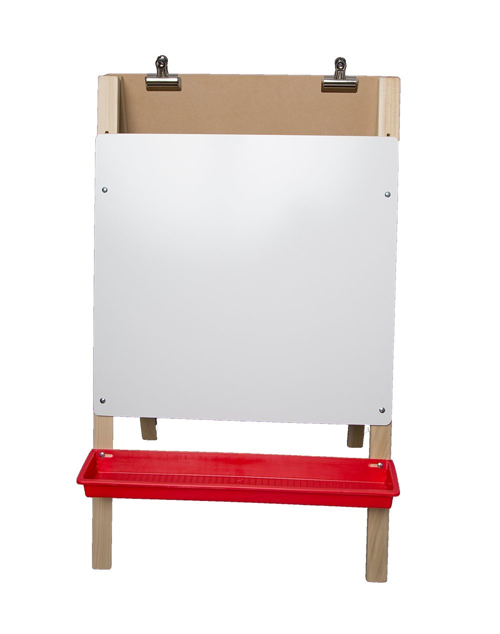 Crestline Products Natural Wood Child's Preschool Easel (White Dry Erase & Hardwood Panel) - 40'' H x 24'' W