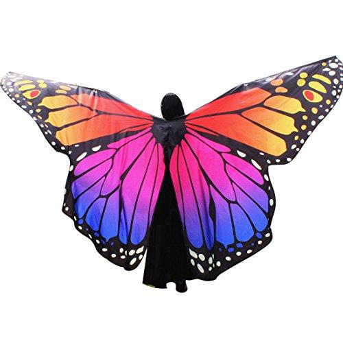 Butterfly Belly Dance Costume 360¡ãIsis Wings Egyptian Dance Wear No Sticks Hot (Angel Dance Costume)