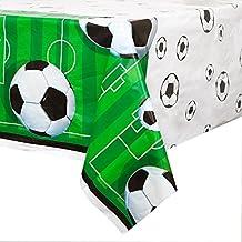 "Soccer Plastic Tablecloth, 84"" x 54"""