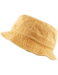 2c26c9e0ed1a6 The Hat Depot 300N Unisex 100% Cotton Packable Pigment Washed Cotton Bucket  Hat