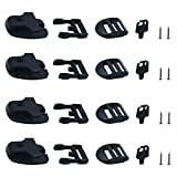 [4 Packs] Tub Cover Latch Broken Latch Repair Kit Repair Clip Lock with Keys and hardwares for Spa Hot Tubs